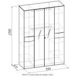 АМЕЛИ 5 (спальня) Шкаф для одежды и белья - 2 шт.