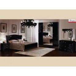 Мебель для спальни «Европа-9» черная